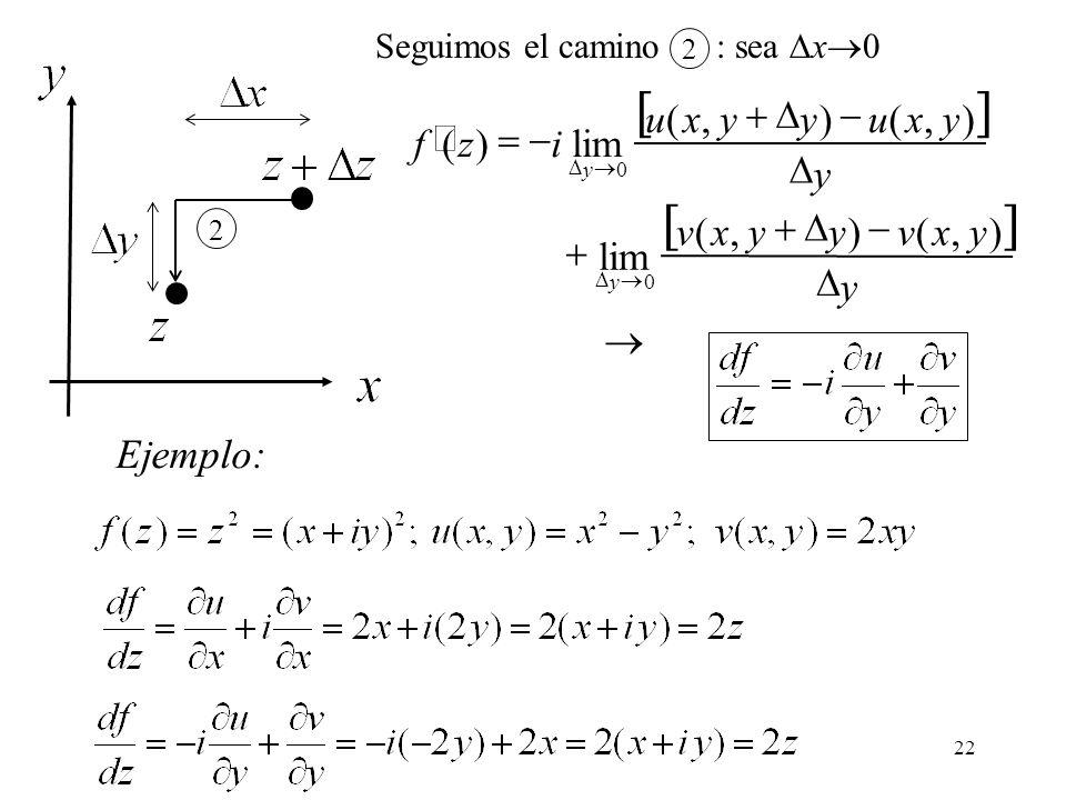 [ ] Ejemplo: ® D - + = ¢ y x v u i z f ) , ( lim